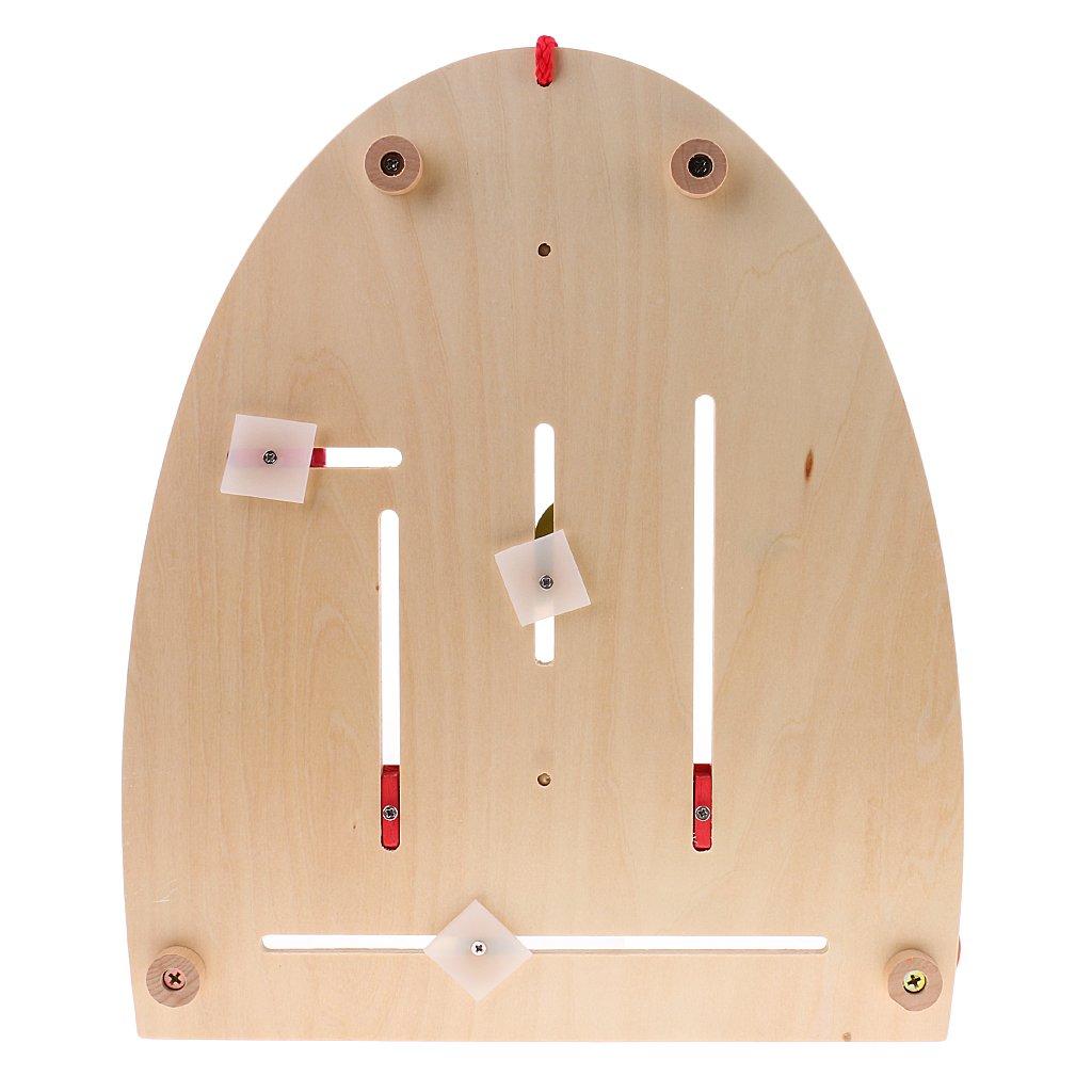 MagiDeal Holz Kalender Uhr Lernuhr Lernspielzeug f/ür Kinder