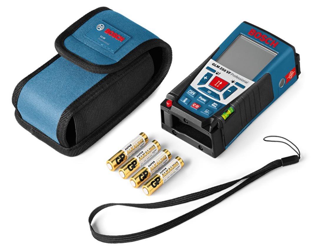 Bosch Laser Entfernungsmesser Bluetooth : Bosch professional laser entfernungsmesser glm 250 vf 4x 1 5 v