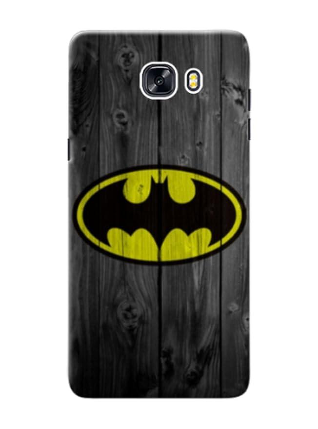 Samsung Galaxy C9 Pro cover with Batman Grey Wood print