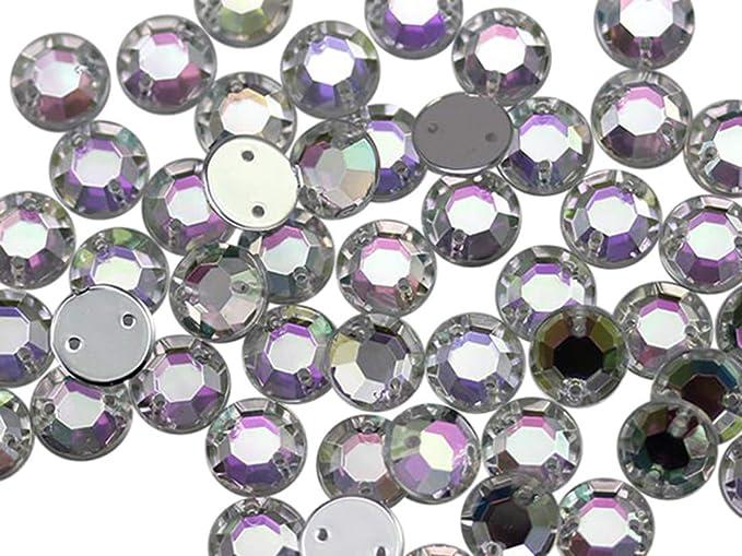 ACC10 Round CLEAR 10mm 50pcs Flatback Acrylic Resin Jewel