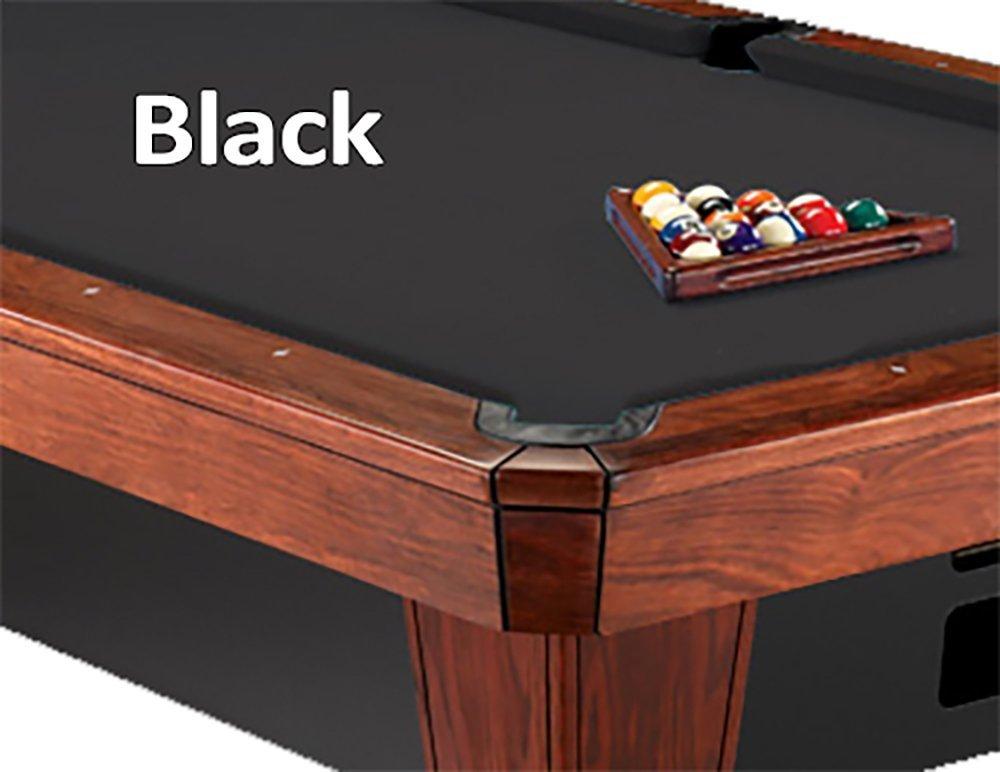 12 'シモニスクロス860ブラックビリヤードPool Table Clothフェルト B00K4JJXZK