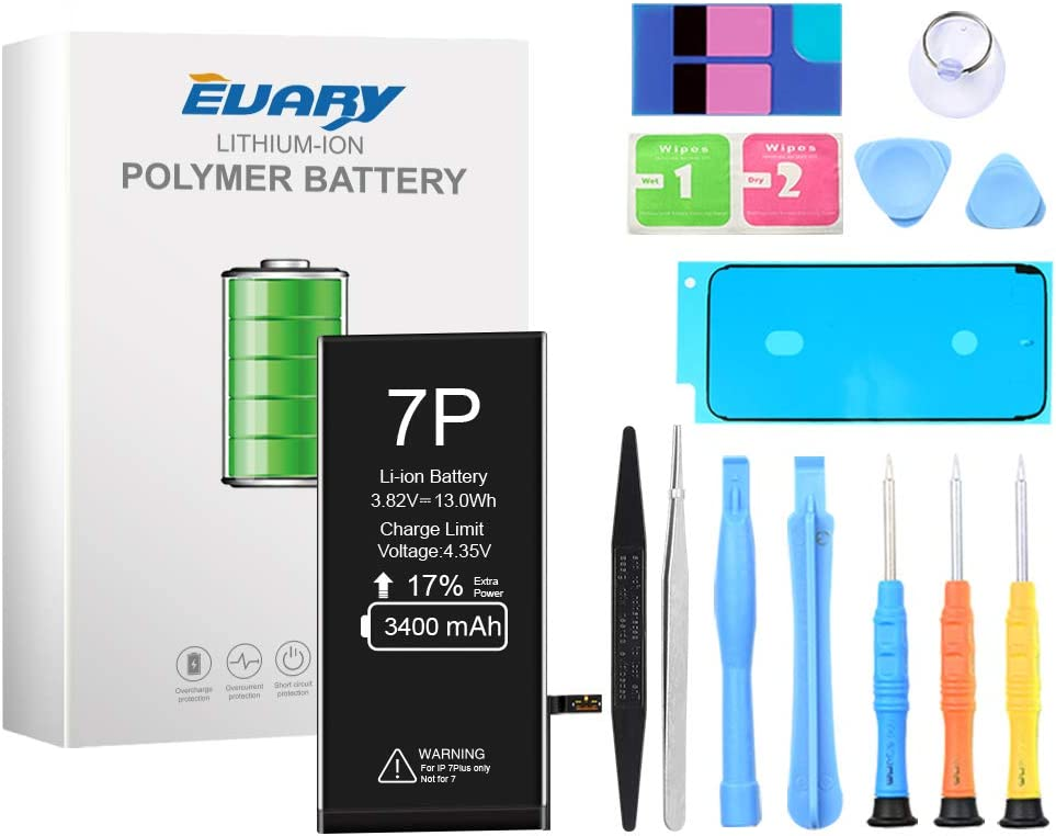 EVARY Battery for iPhone 8 2040mah High Capacity Replacement Battery for iPhone 8 with All Repair Kits Tools and 24 Months Warranty.