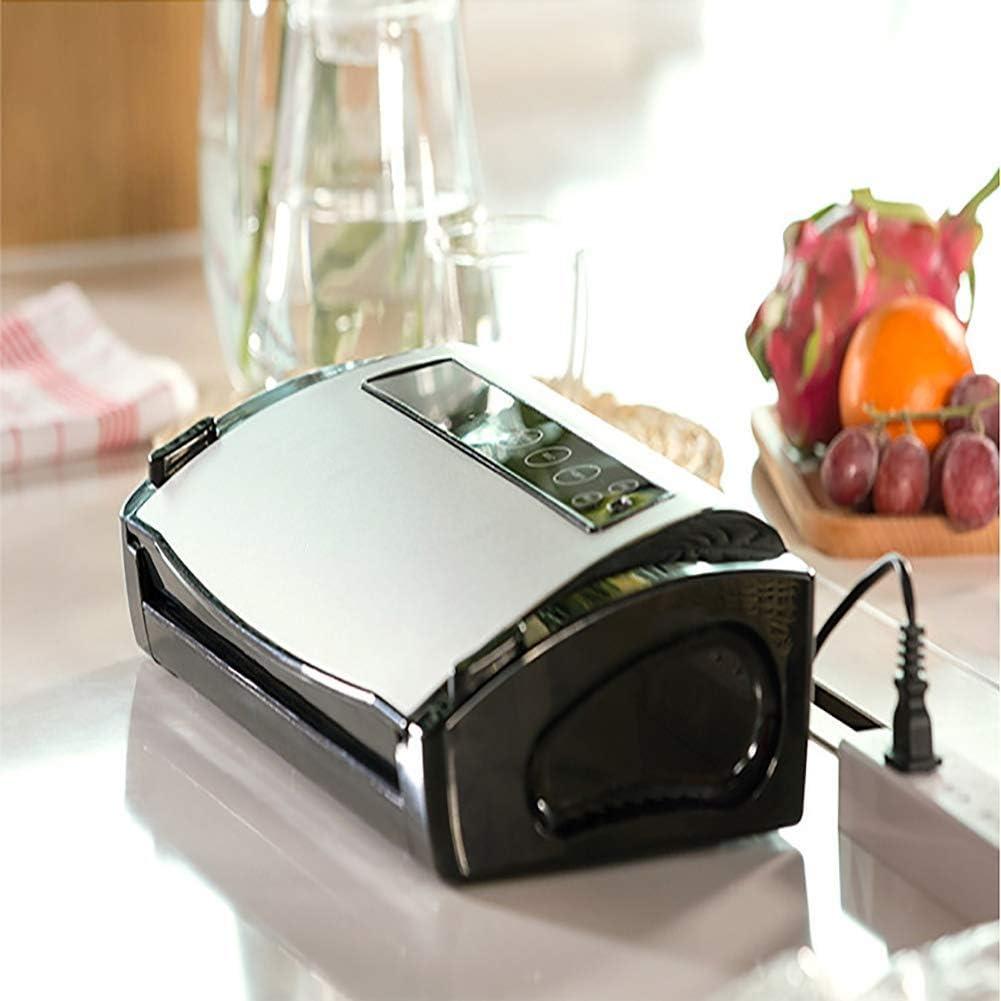 真空シーラー自動/手動フードセーバー、10個の真空バッグ付きの乾燥した湿った食品の新鮮な保存のための軽量タッチフードシーラー