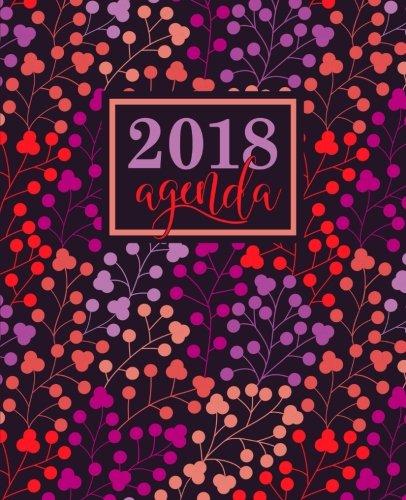 Agenda: 2018 Agenda semana vista español : 190 x 235 mm, 160 g/m² : Estampado floral en coral, lavanda, morado y melocotón...