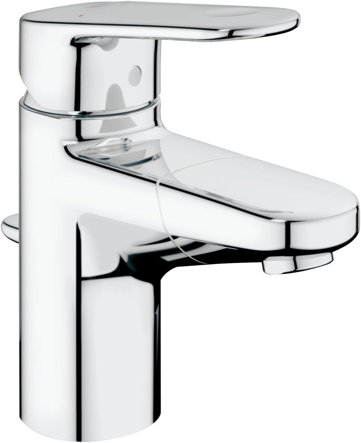 GROHE Europlus  Badarmatur - Einhand-Waschtischbatterie, S-Size,  herausziehbarer Auslauf  chrom  10