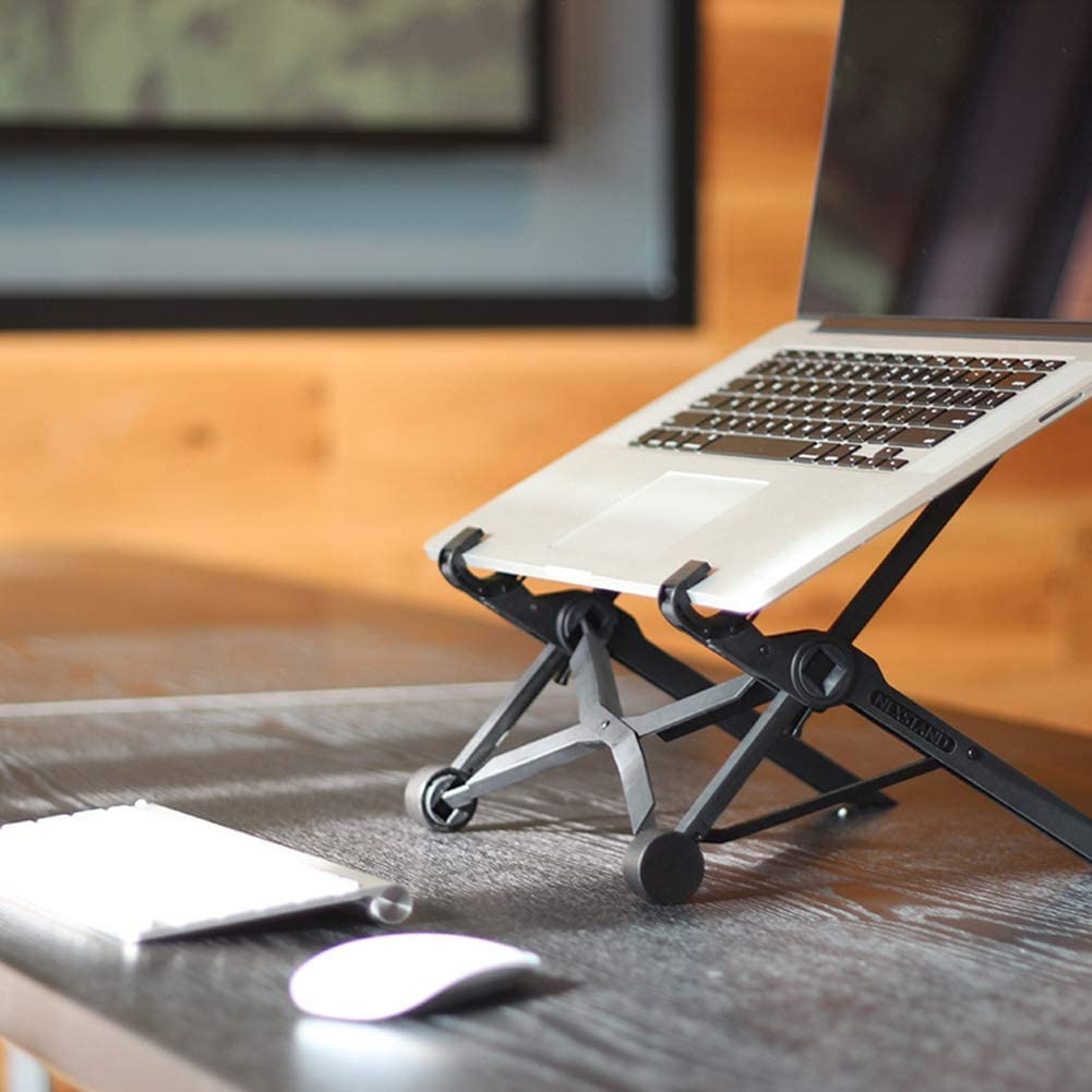 Foldable PC and Notebook Holder Mount Riser Laptop Stand Easy to Setup Office Gift Lightweight Adjustable Portable MacBook Stand Sturdy