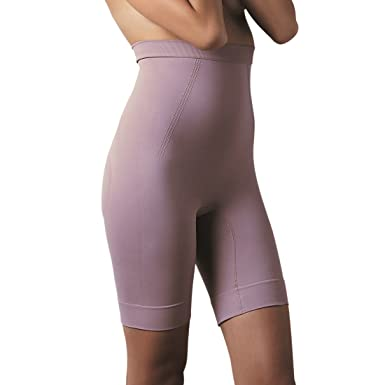 a5535b830e728 Scala Women s Biopromise Anti Cellulite High Waisted Bermuda Beige 12 - 14  at Amazon Women s Clothing store  Thigh Shapewear