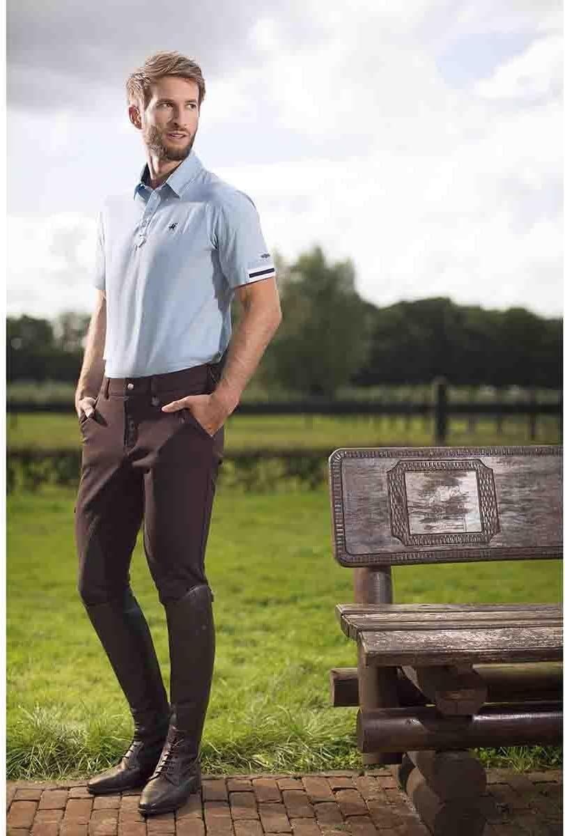 /Cambridge Alos Completamente Riporto HKM Kingston by Uomo Pantaloni da Equitazione/