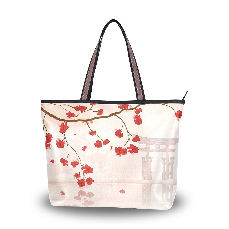 Senya Women's Handbag Microfiber Large Tote Shoulder Bag, Japanese Sakura