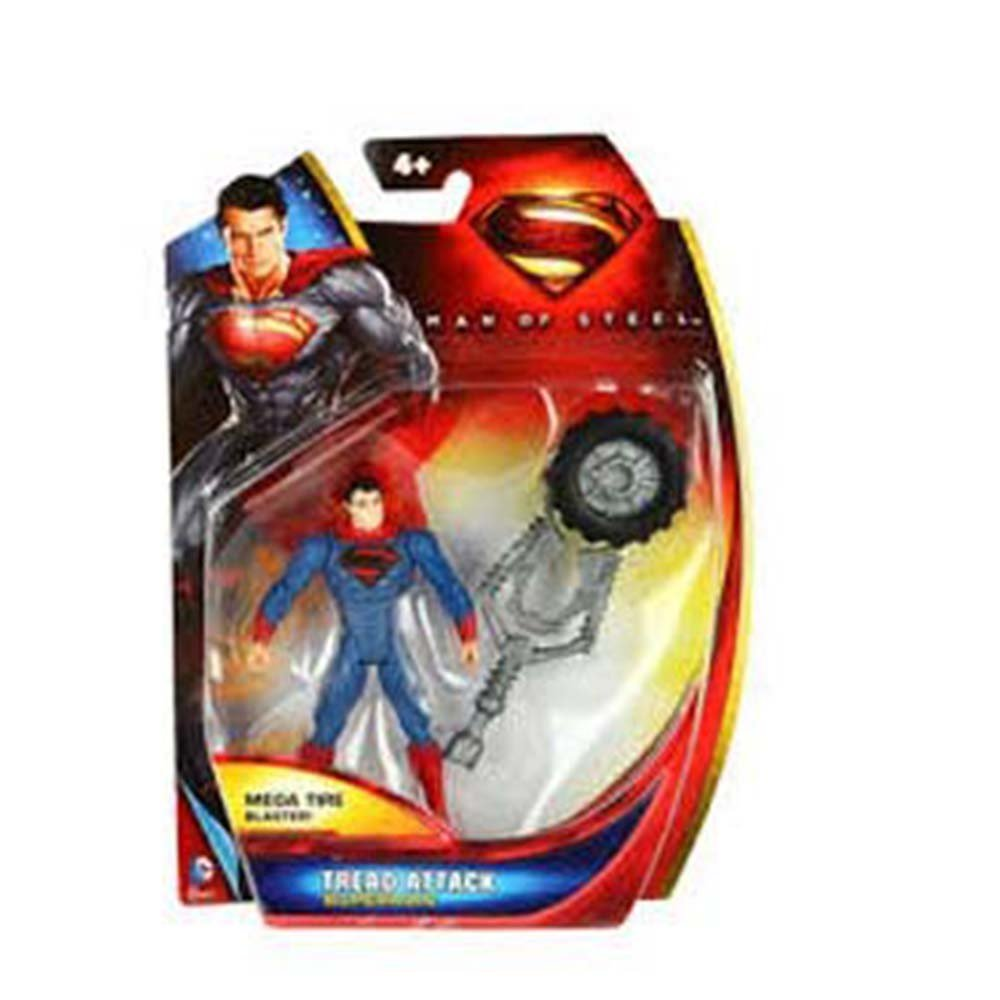 "Superman Man Of Steel Tread Attack 4/"" Poseable Figure Launches Mega Tire Mattell"