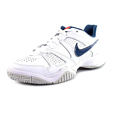 detailed look a28b4 3ac19 Nike City Court 7 (GS), Scarpe da Ginnastica Bambino, BlancoAzulGris  (WhtSqdrn Bl-Tm Orng-SPRT Gry), 40 EU Amazon.it Scarpe e borse