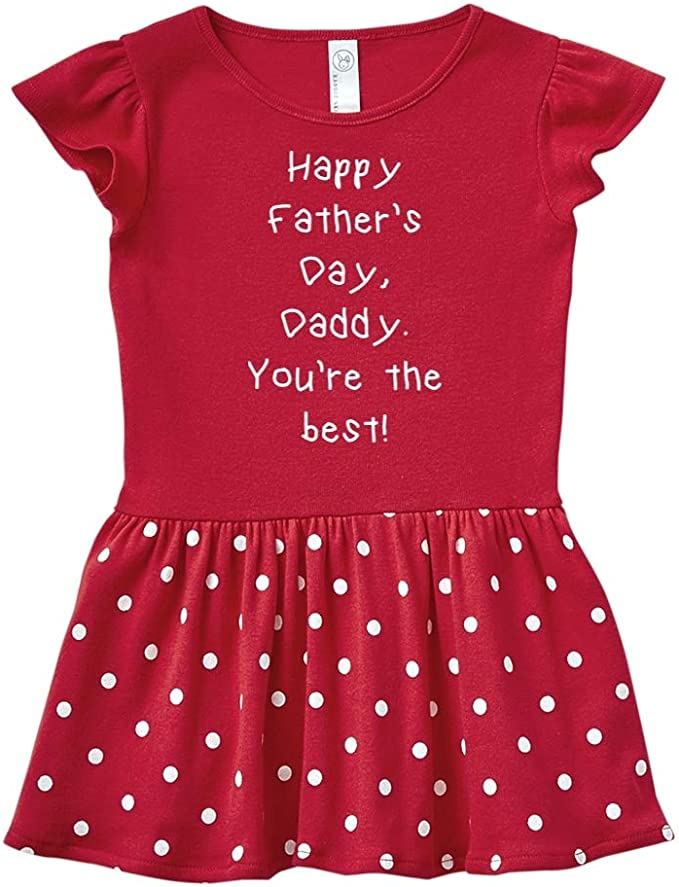 Mashed Clothing Happy Fathers Day Daddy Youre The Best Toddler//Kids Ruffle T-Shirt