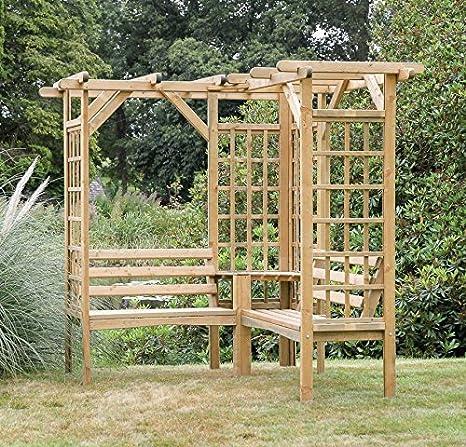 Zest4Leisure Winchester – Pérgola Asiento – Madera: Amazon.es: Jardín