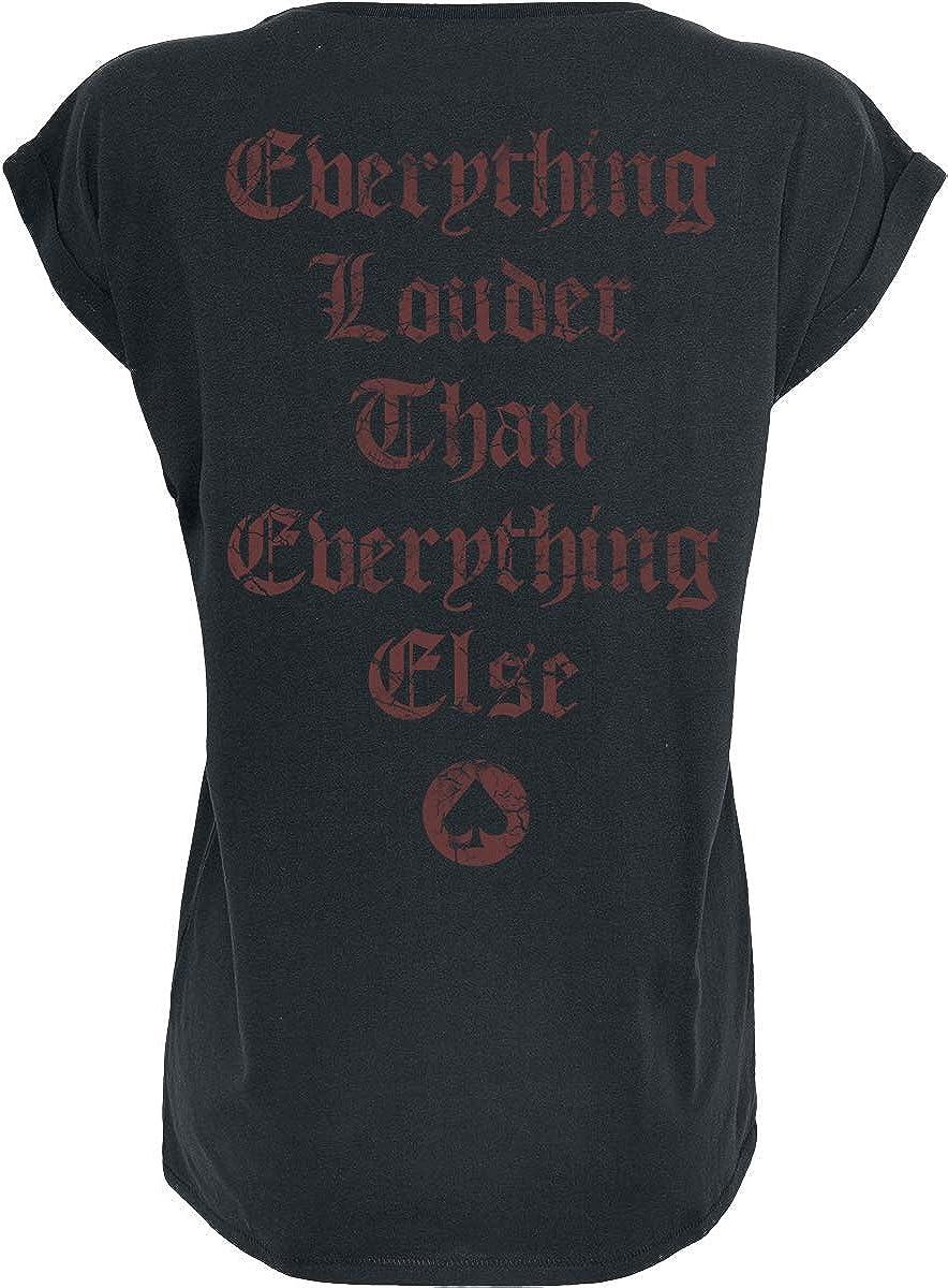 Bands Mot/örhead England Frauen T-Shirt schwarz Band-Merch