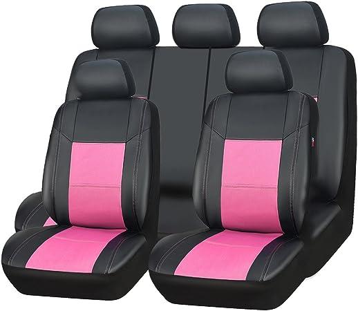 Car Pass Skyline Pu Leder Autositzbezüge Universal Passform Für Autos Suv Fahrzeuge Auto