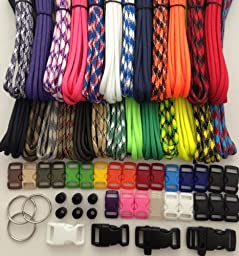 550 Paracord Survival Bracelet Kit Type III 7 Strand with 250 Feet and 25 3/8\