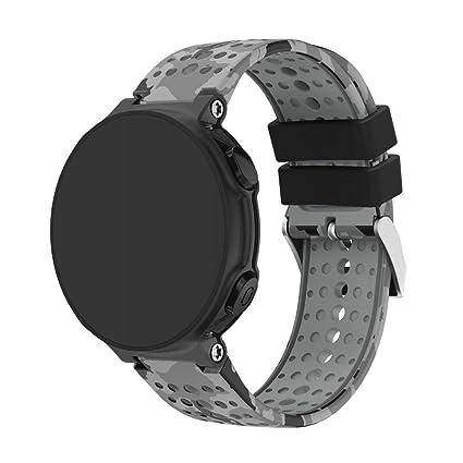 MYQyiyi Correa de Silicona de Reloj Inteligente para Garmin Forerunner 235 GPS Watch (D)