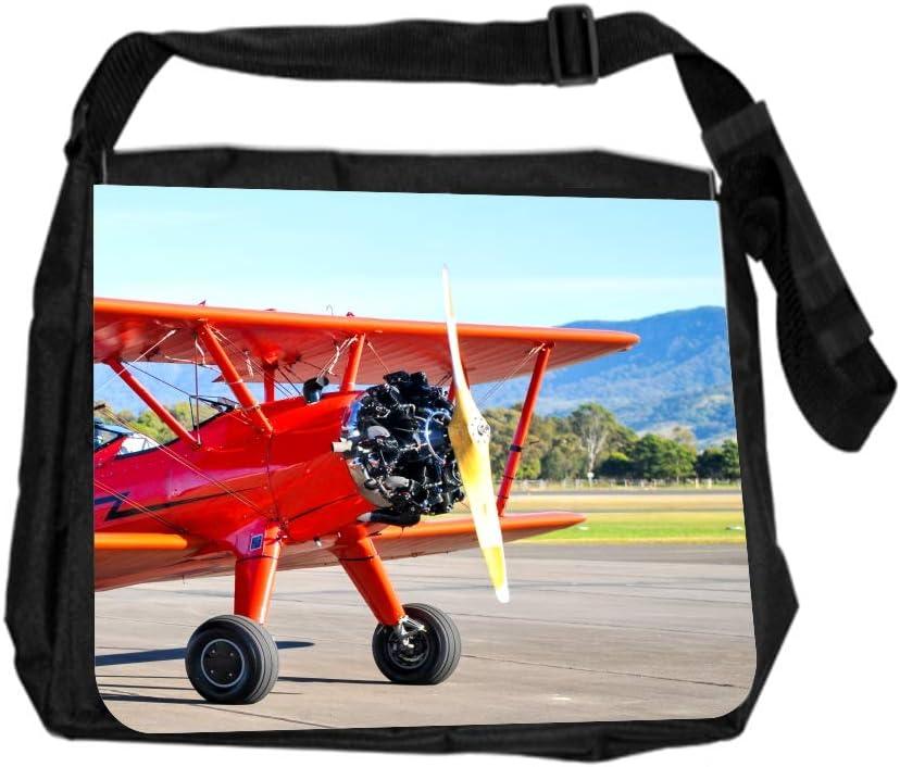 Airplane Vintage Style Cross Body Shoulder Messenger Laptop Bag