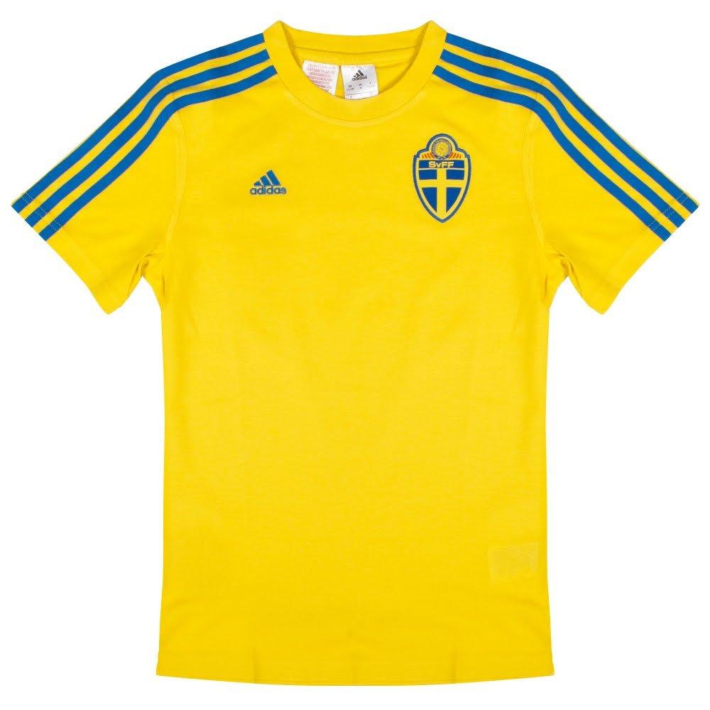 adidas Schweden SVFF Tee Youth Kinder T-Shirt Sweden Trikot Jersey gelb