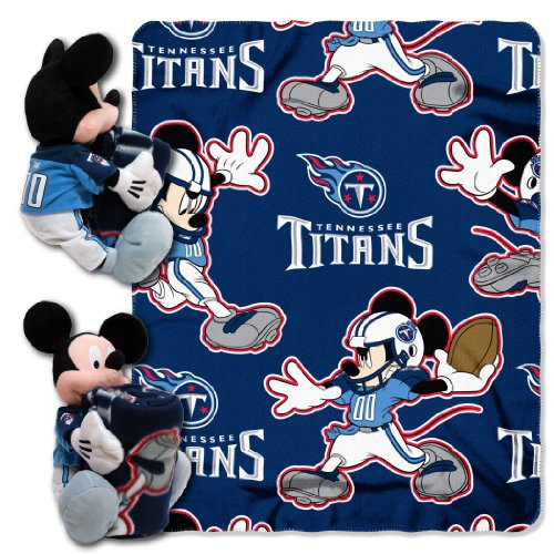 (The Northwest Company Officially Licensed NFL Tennessee Titans Co Disney's Mickey Hugger and Fleece Throw Blanket Set)