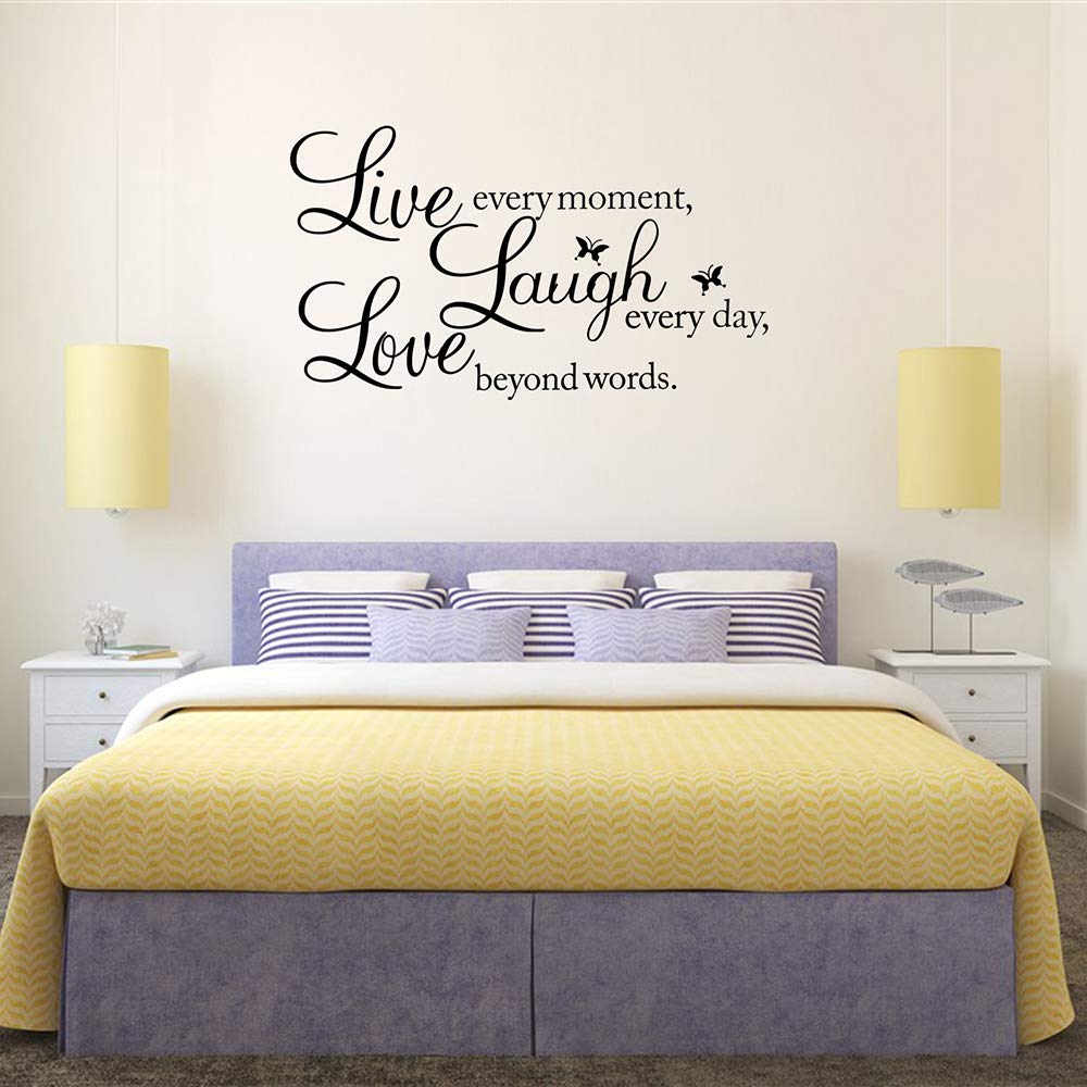 KNLWGXESC Wall Sticker, Wall Decor Stickers for Living Room / Bedroom, Wall Decals for Home, Wall Decorations, Wall Art Stickers, Mirror Wall Stickers, Wall Quote Decal Sticker Art Decor for Family