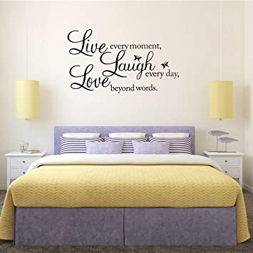 Amazon Com Knlwgxesc Wall Sticker Wall Decor Stickers For Living Room Bedroom Wall Decals For Home Wall Decorations Wall Art Stickers Mirror Wall Stickers Wall Quote Decal Sticker Art Decor For Family