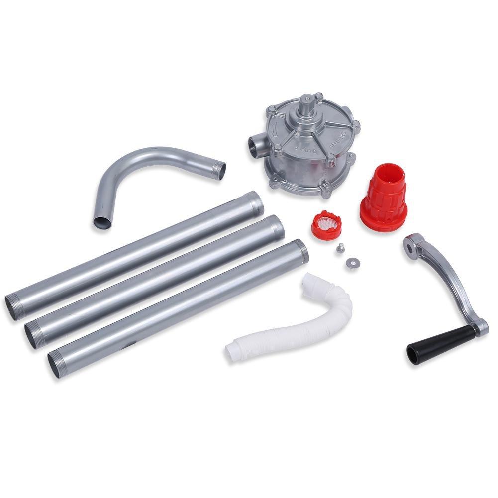 Pompe /à Huile en Alliage d/'Aluminium Pompe de Carburant d/'Essence de Diesel d/'Huile de Lubrification et Plus Pompe /à Manivelle