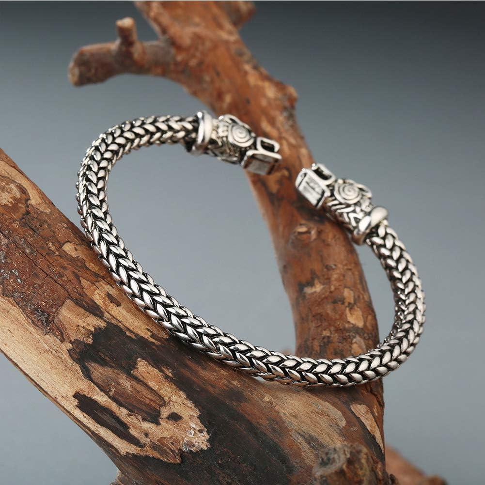 * Or//Bronze Bracelet /à Manches en cuivre Massif Fait Main de Dragon Punk Viking Dragon Vintage pour Hommes et Femmes