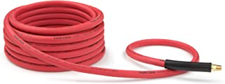 product image for TEKTON 46335 3/8-Inch I.D. by 25-Foot 250 PSI Rubber Air Hose with 1/4-Inch MPT Ends and Bend Restrictors