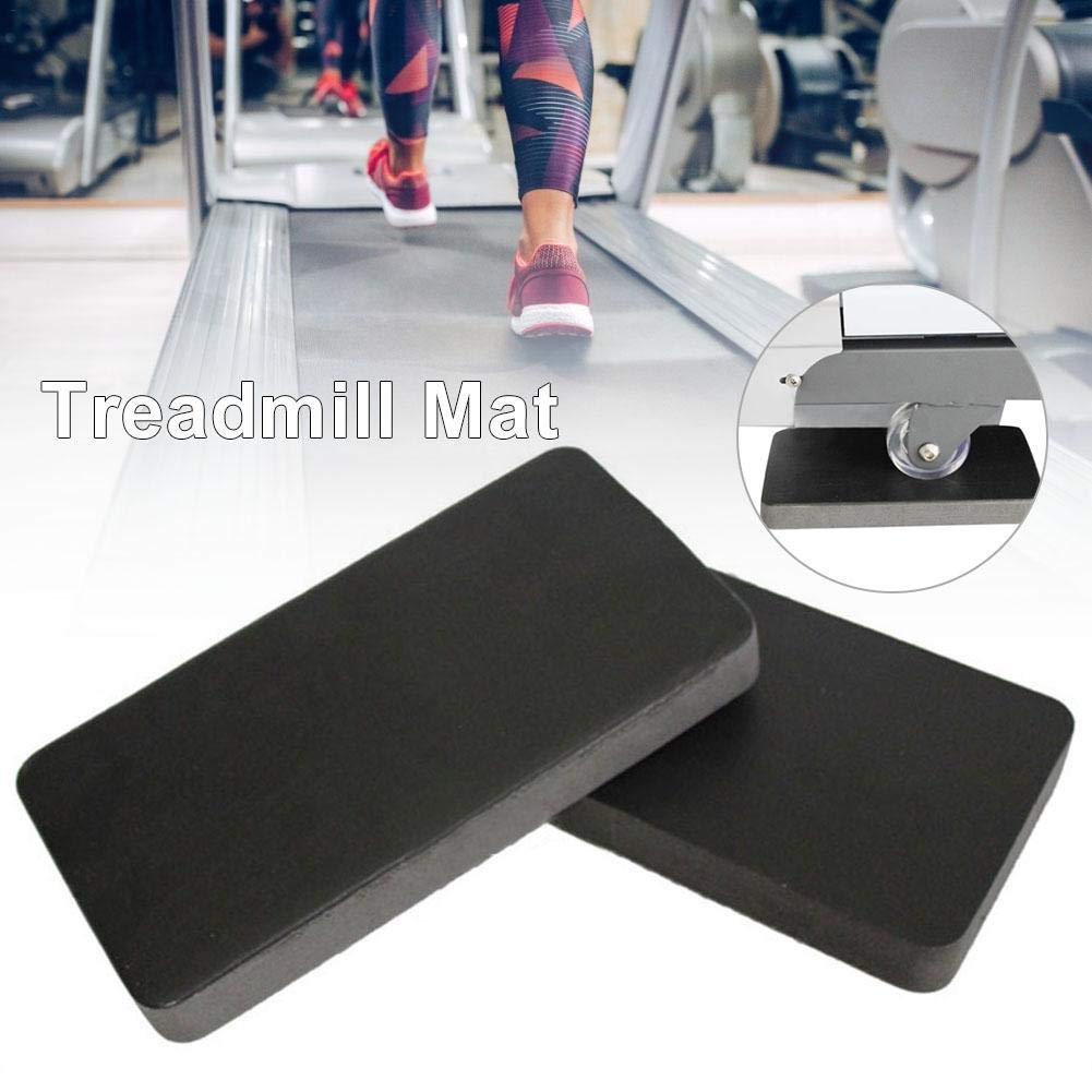 ELEC TECH 6Pcs Basic Carpet Mat for Fitness Device, Treadmill Mat Acoustic Insulation Cushion Thickening Mute Shock Pad by ELEC TECH