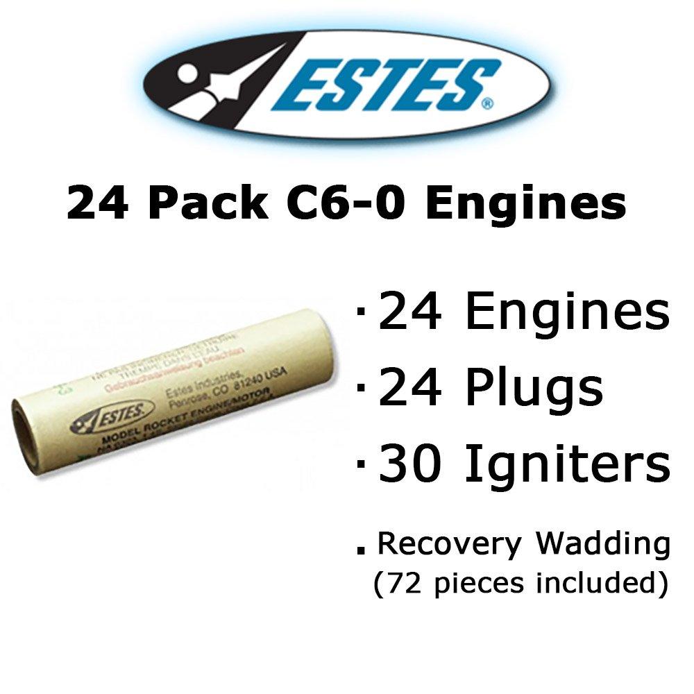 Estes C6-0 Model Rocket Engines (24 pack)