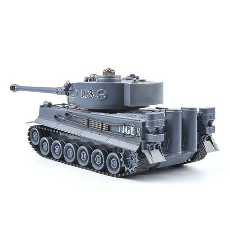 Junyastore RC Fighting Battle Tank 1:28 Scale (Azul Marino T103): Amazon.es: Juguetes y juegos