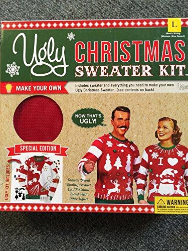 Ugly Christmas Sweater Kit Cayenne Size L