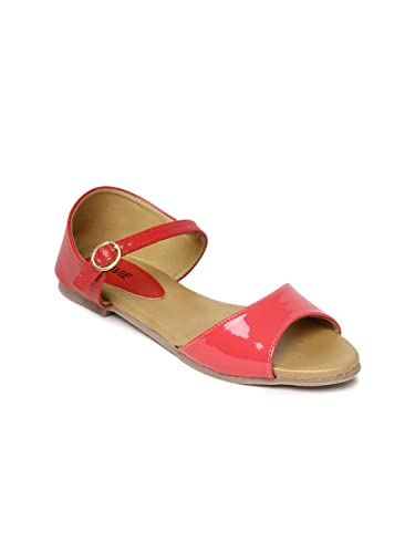 86f53392b44 Lavie Women Pink   Red Open-Toed Flats (3E3)  Buy Online at Low ...