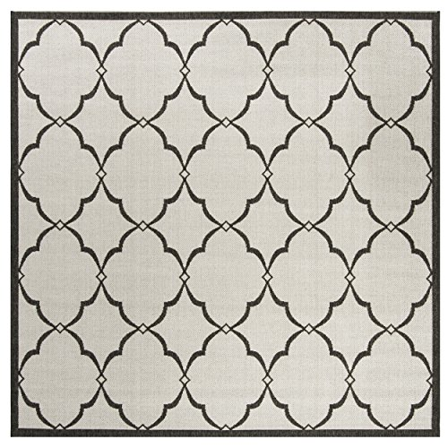 Safavieh Linden Collection Premium Wool Square Area Rug, 6 7 , Light Grey Charcoal