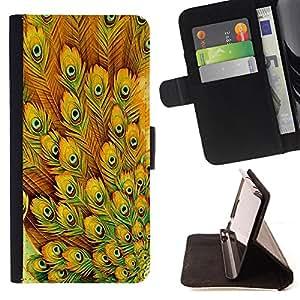 Dragon Case- Caja de la carpeta del caso en folio de cuero del tir¨®n de la cubierta protectora Shell FOR Samsung Galaxy G360 G3608 G3606- Peacock Feather