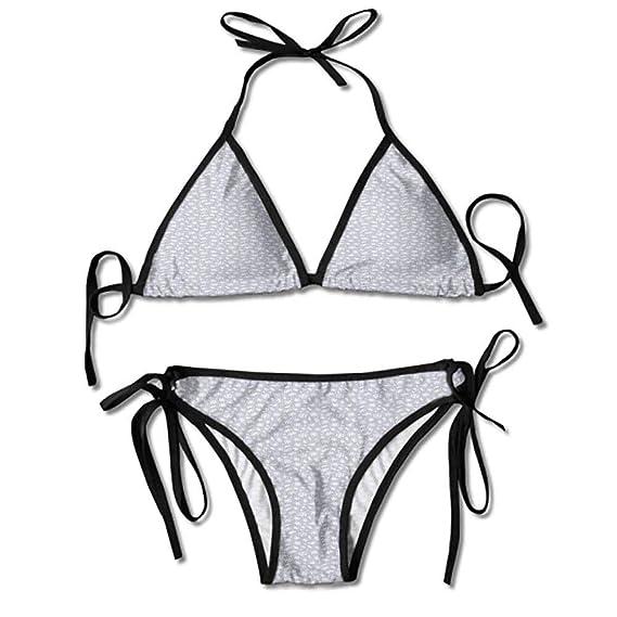 Amazon.com: Bikini de impresión para mujer, rectangular ...