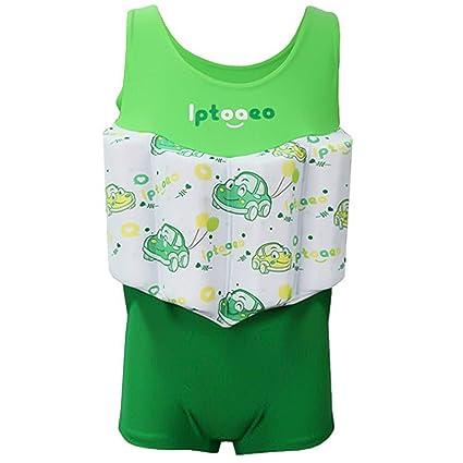 7f81532647 LILYFUN 2018 Baby Kids One Piece Sport Swimsuit Buoyancy Bathing Suit Float  Suit Swimwear Set Boys