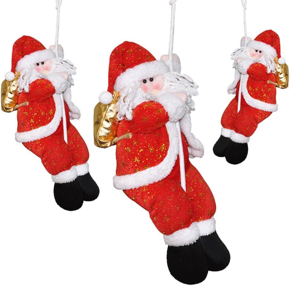PROKTH Decoración de Navidad Santa Claus en Cuerda de Escalada ...