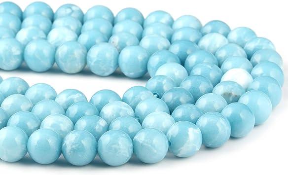 "Nouveau 8 mm bleu turquoise Gemstone Round Loose Beads 15/"""