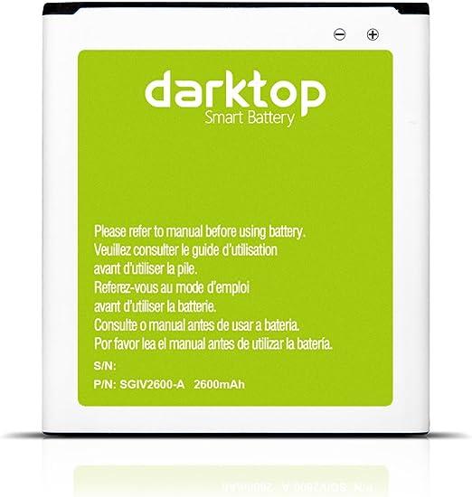 Darktop® 2600mAh Li-Ion Batería para Samsung Galaxy S4 S IV SIV, I9500, I9505 con NFC/Google Wallet