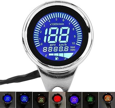 /Veloc/ímetro Moto 12/V Digital 2/en 1/LED contador de velocidad calibre de nivel de aceite universal para moto Nuevo/