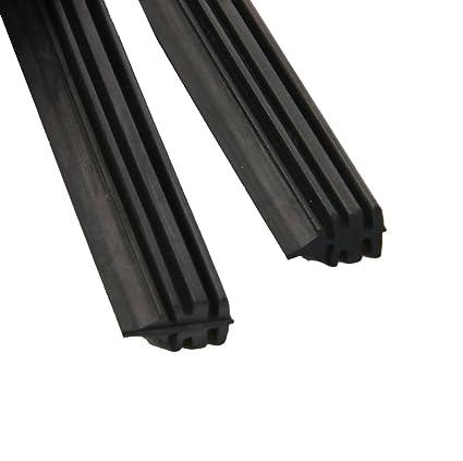2x Universal Tira Goma de Limpiaparabrisas Hoja de Repuesto para Coche 6mm 26
