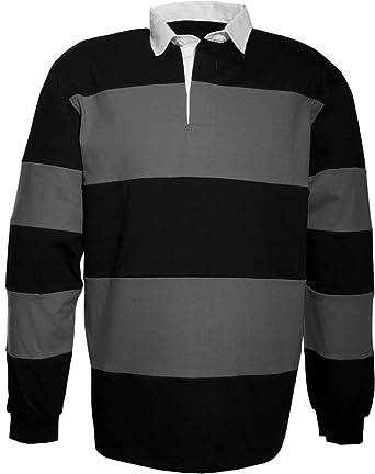 SOUL REBEL Polo de rugby-280 g/m² Negro Black/Storm Grey Talla ...