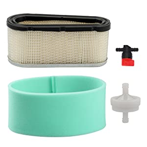 Harbot 496894 Air Filter with 272403 Pre Filter Fuel Filter Valve for Briggs & Stratton 496894S 493909 John Deree LG496894JD LG496894S Craftsman Toro Lawn Mower Tractor