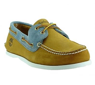 Timberland 6503A EK Earthkeepers Brig 2 Eye Boat Shoes Wheat Blue UK 8.5