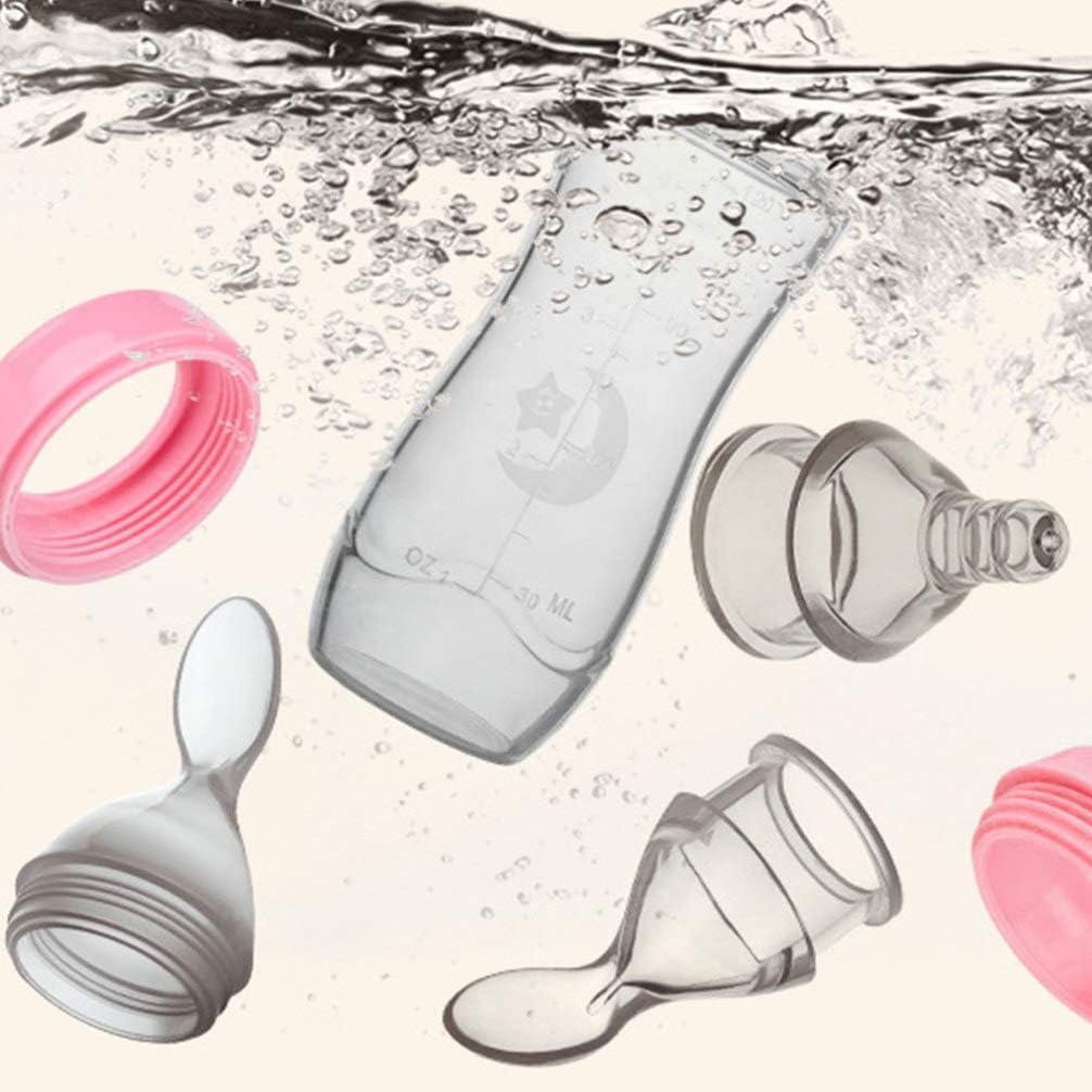 Healifty 3 Piezas Biberones de Silicona Cuchara para Apretar Beb/é Arroz Cereal Botella de Alimentaci/ón Cuchara de Alimentaci/ón para Beb/és Reci/én Nacidos Azul