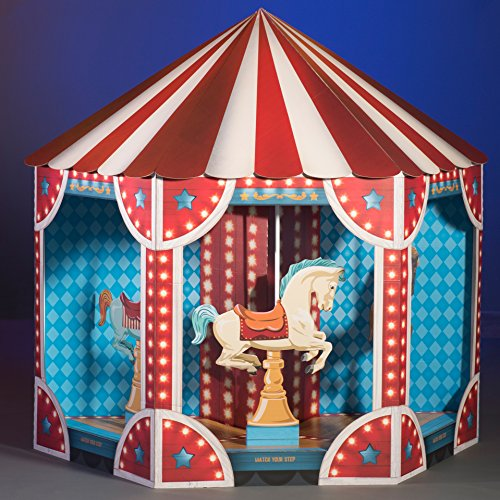 7 ft. 10 in. Carnival Circus Spectacular Carousel Standup Photo Booth Prop Background Backdrop Party Decoration Decor Scene Setter Cardboard Cutout