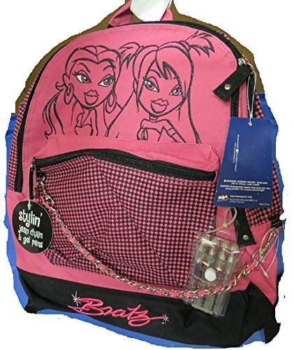 - Bratz pink Backpack with Stylin jean Chain
