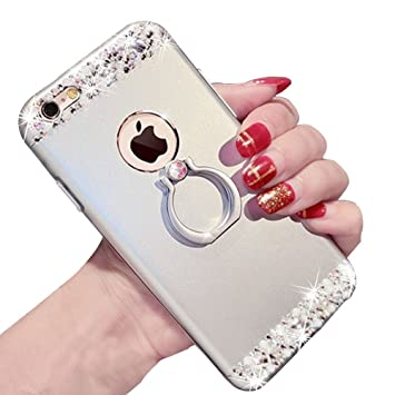 1f35627ade4 Brillo Funda para iPhone 7 Plus / iPhone 8 Plus Rigida Brillante  Lentejuelas: Amazon.es: Electrónica